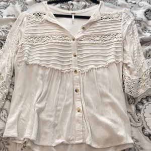 White Free People top size M
